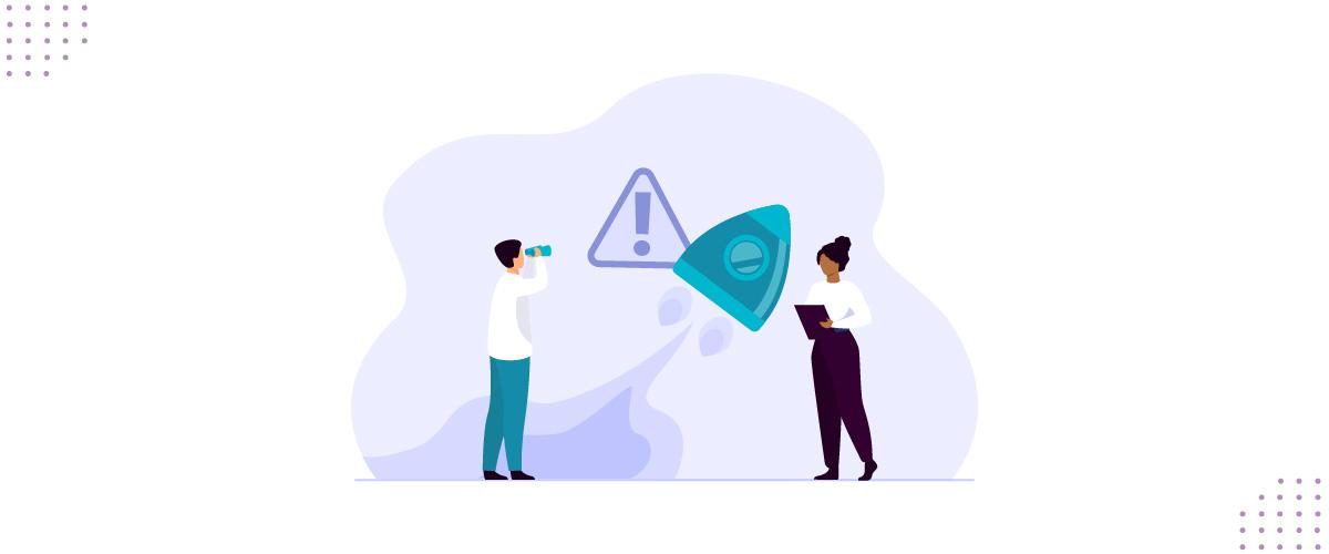 Ilustração de pessoas observando pontos de atenção sobre a LGPD em startup.
