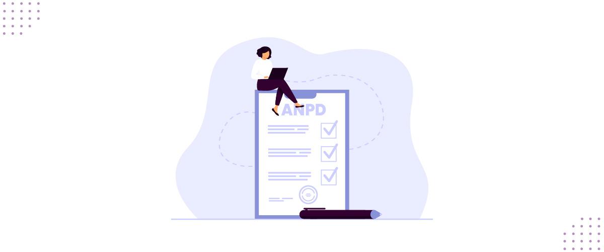 Ilustração mostrando regulamentações e pontos da agenda bienal da ANPD.