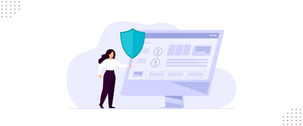 Ilustração representando a segurança da informação aplicada em empresas.