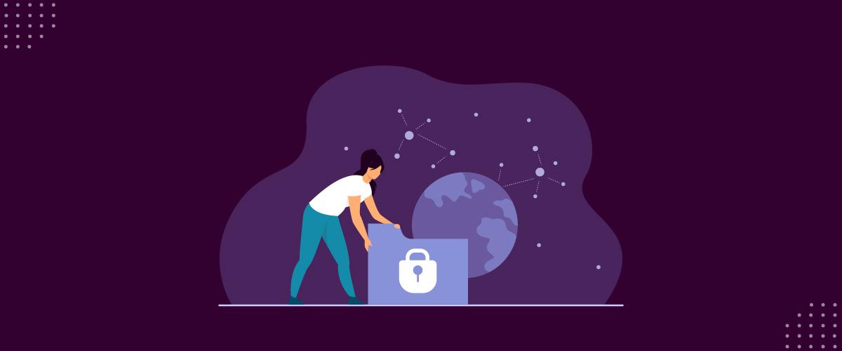 Ilustração representando a segurança da informação.