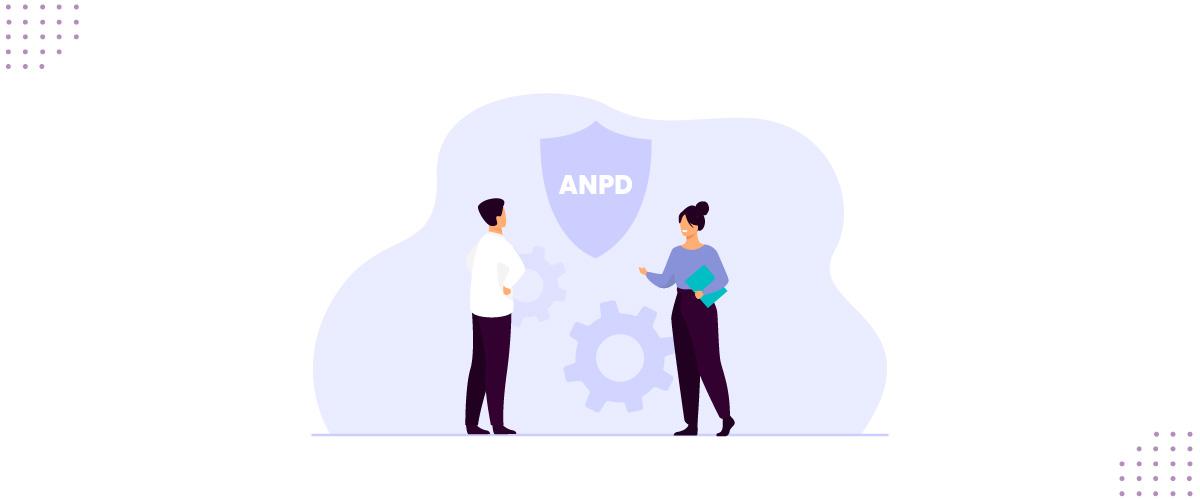 Ilustração representando funções da ANPD.