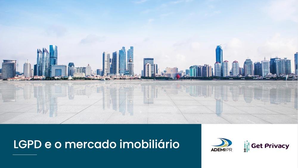 """Capa do e-book """"LGPD e o mercado imobiliário"""""""