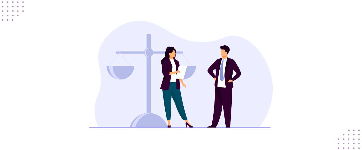 Ilustração mostrando parceria entre advogados e Get Privacy