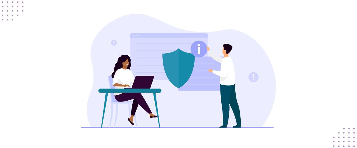 Ilustração mostrando serviços de segurança da informação.