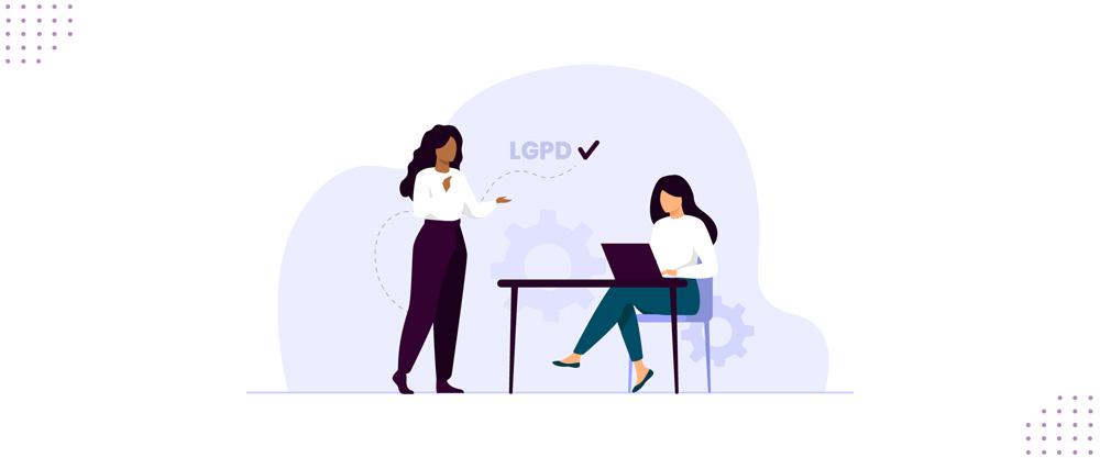 Ilustração representando a aplicação da LGPD.