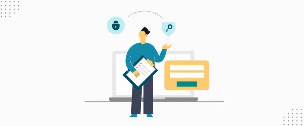 Ilustração fazendo referência a dados e privacidade